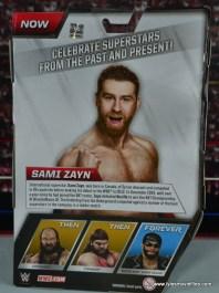 WWE Elite Sami Zayn figure review - package back