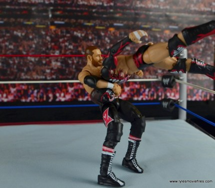 WWE Elite Sami Zayn figure review - suplex on Finn Balor