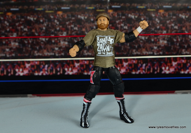 WWE Elite Sami Zayn figure review - with accessories on