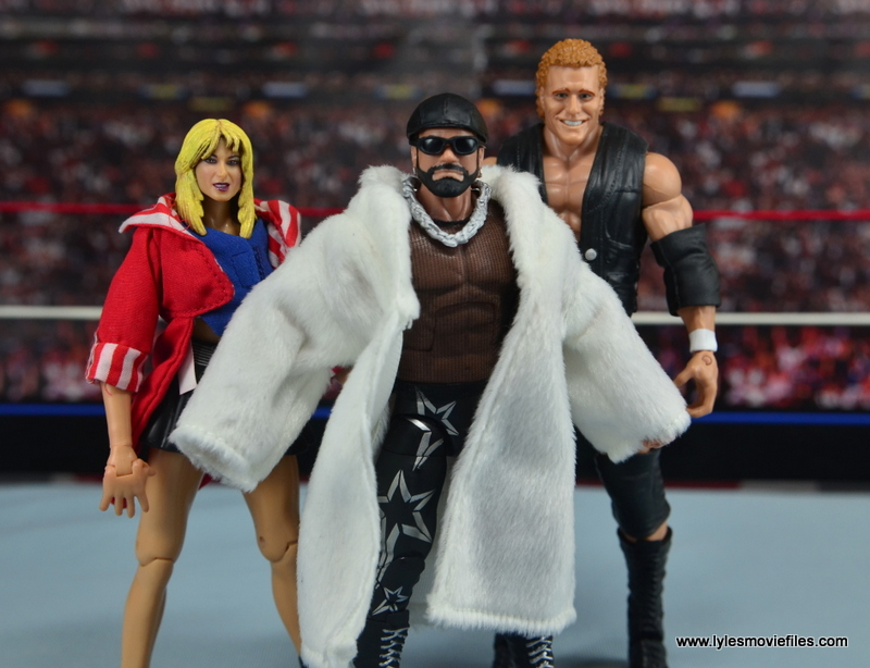 WWE Elite Then Now Forever Macho Man Randy Savage figure review - Team Madness with Madusa and Sid