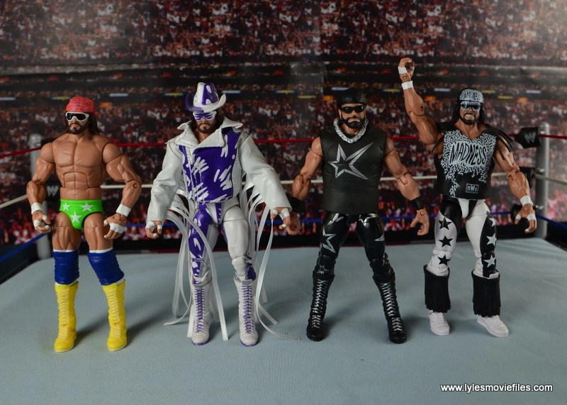 WWE Elite Then Now Forever Macho Man Randy Savage figure review - with other Macho Man figures