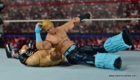 WWE Elite Tyler Breeze figure review - elbowdrop to Zayn