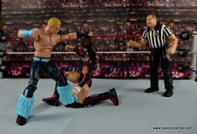 WWE Elite Tyler Breeze figure review - punching Finn Balor