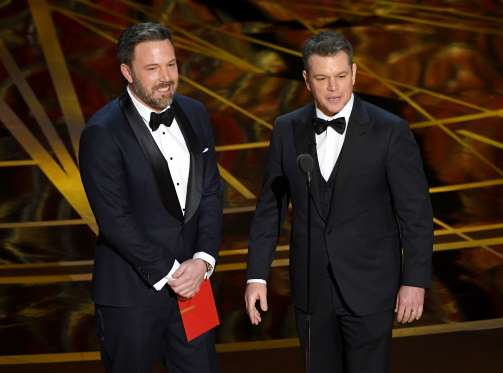 2017 Oscars - Ben Affleck and Matt Damon