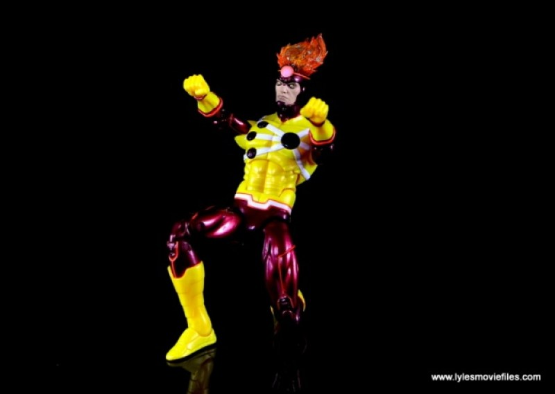 DC Icons Firestorm figure review - on one knee