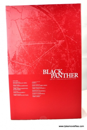 Hot Toys Black Panther figure review - inner package rear