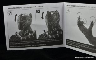 Hot Toys Black Panther figure review - instructions 1