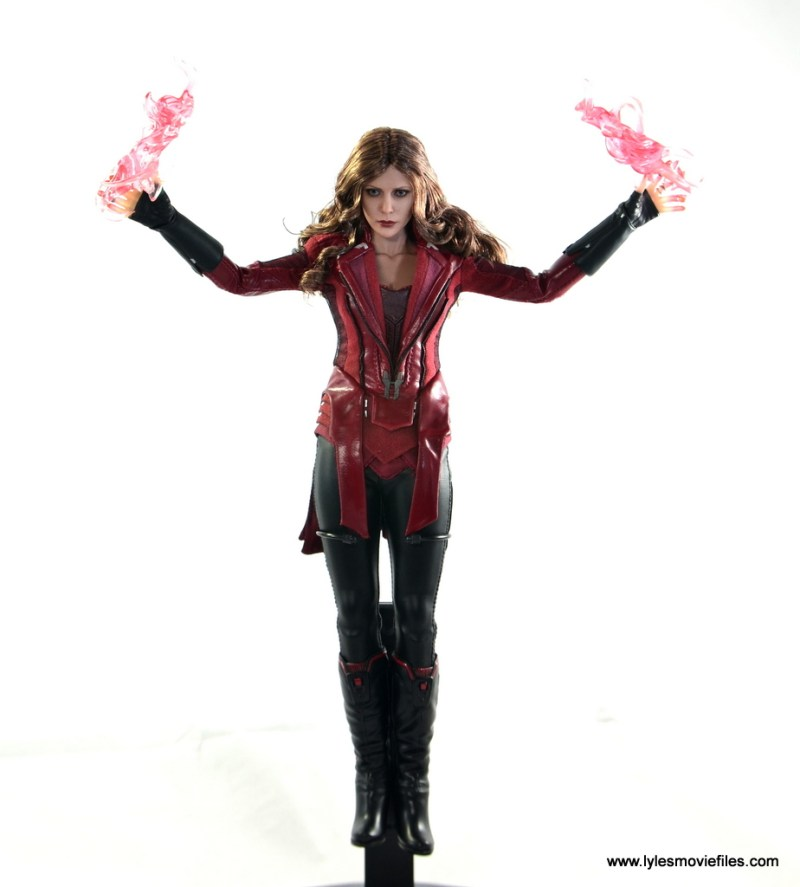 Hot Toys Scarlet Witch figure review - levitating in stand