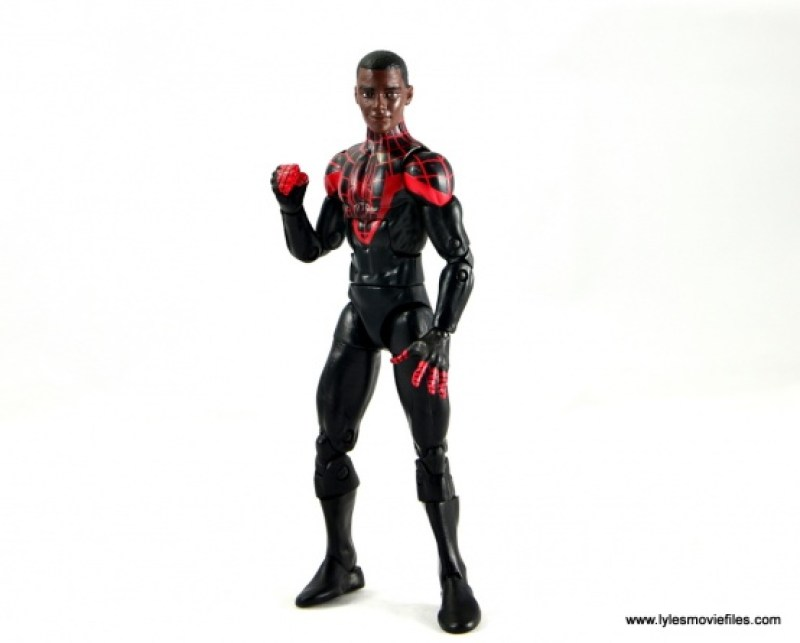 Marvel Legends Miles Morales figure review - Miles head standing