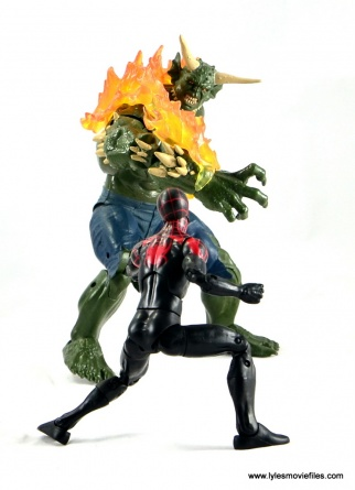 Marvel Legends Miles Morales figure review - face off with Ultimate Green Goblin