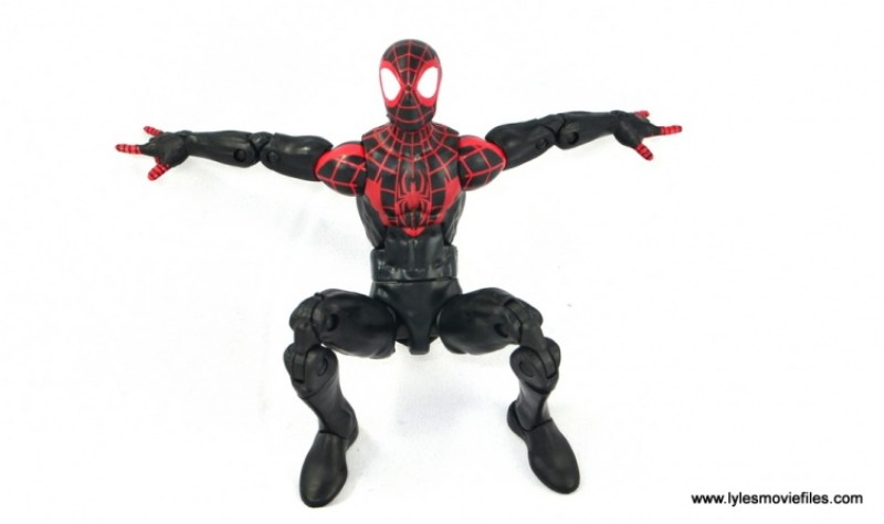 Marvel Legends Miles Morales figure review - ready to pounce