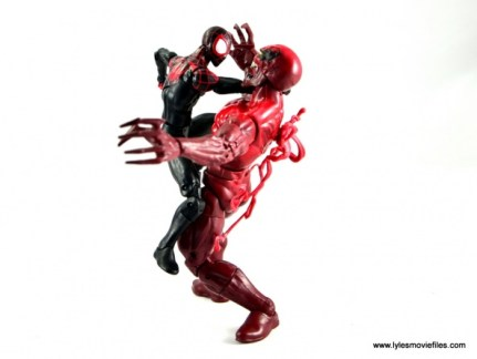 Marvel Legends Miles Morales figure review - vs Toxin