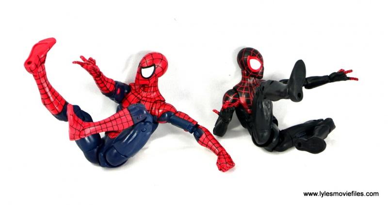 Marvel Legends Miles Morales figure review - web slinging with Spider-Man