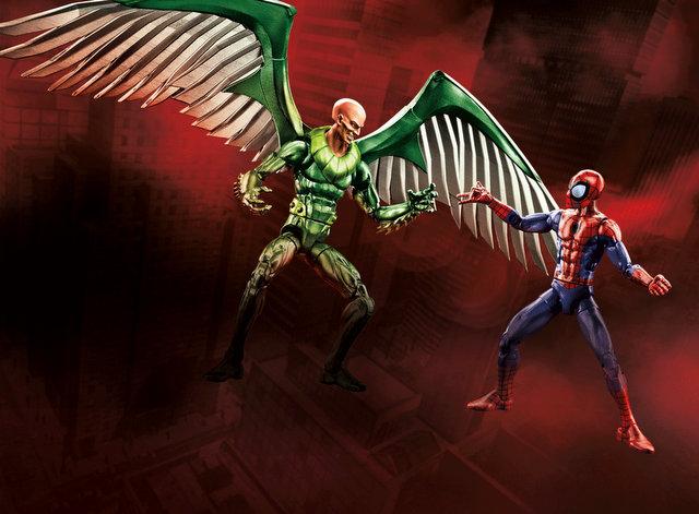 Marvel Legends Toy Fair 2017 - SPD Vulture 2PK_Vulture and Spiderman