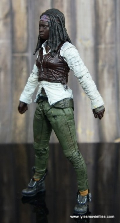 The Walking Dead Michonne figure review - left side