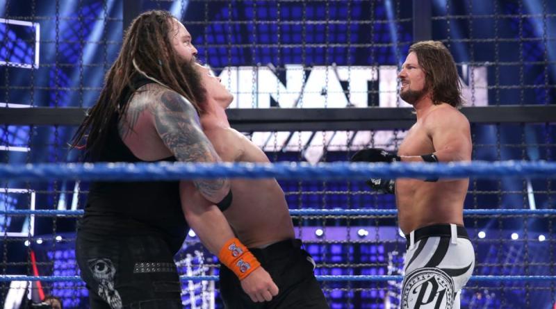 WWE Elimination Chamber 2017 - Bray Wyatt, John Cena and AJ Styles