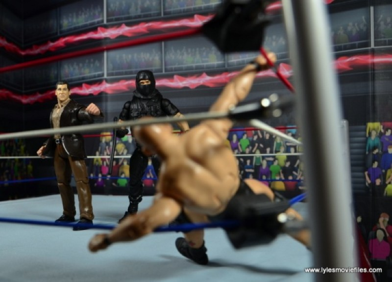 WWE Elite Big Boss Man figure review - about to attack Stone Cold