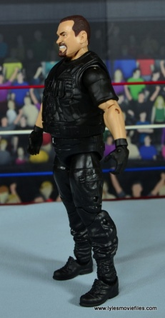 WWE Elite Big Boss Man figure review - left side