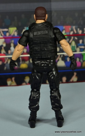 WWE Elite Big Boss Man figure review - rear