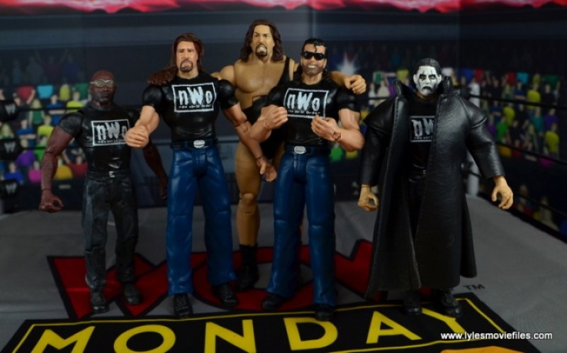 WWE Mattel The Outsiders Battle Pack figure review - Outsiders with Vincent, The Giant and nWo Sting