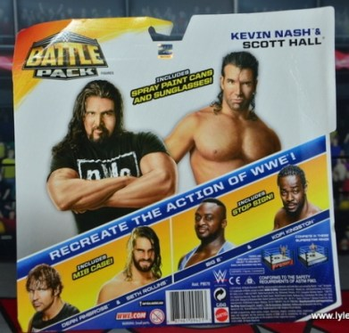 WWE Mattel The Outsiders Battle Pack figure review - package rear