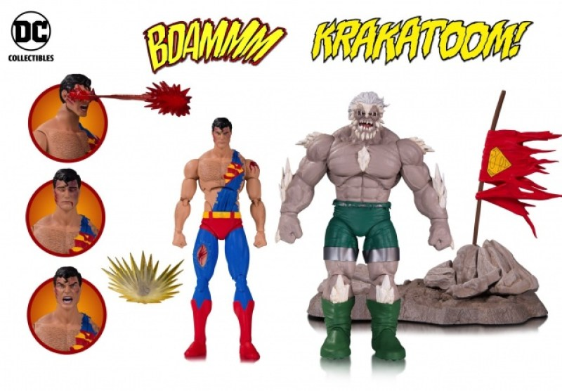 DC Icons Death of Superman two pack - battered Superman and Doomsday