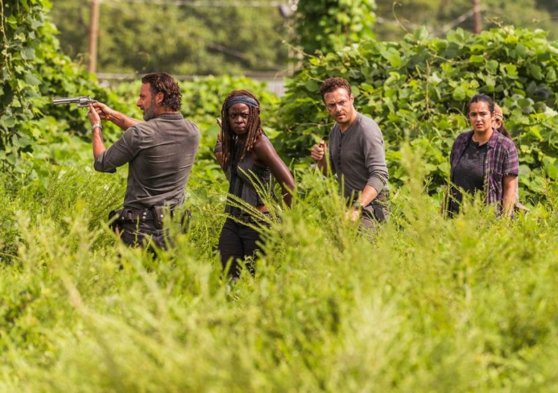 the-walking-dead-episode-Rock in the Road review -Rick, Michonne, Aaron and Tara