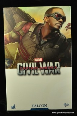 Hot Toys Captain America Civil War Falcon figure review - package front
