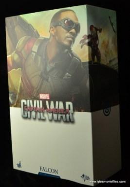 Hot Toys Captain America Civil War Falcon figure review -package left side