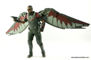 Hot Toys Captain America Civil War Falcon figure review -walking with wings out