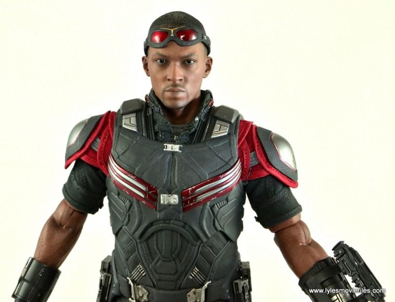 Hot Toys Captain America Civil War Falcon figure review -wide detail shot