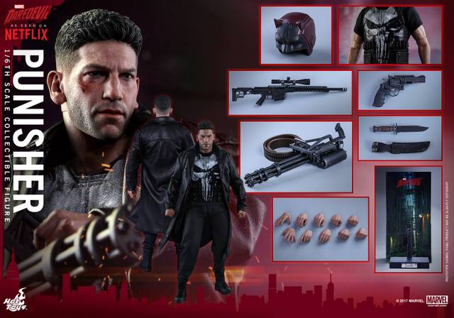 Hot Toys Netflix The Punisher figure - collage