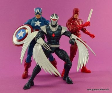Marvel Legends Darkhawk figure review - with Captain America and Daredevil
