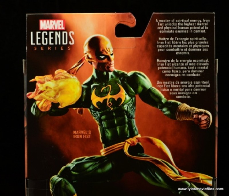 Marvel Legends Iron Fist figure review - bio