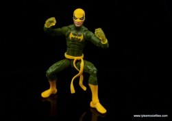 Marvel Legends Iron Fist figure review - crouching Danny