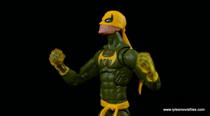 Marvel Legends Iron Fist figure review - focusing