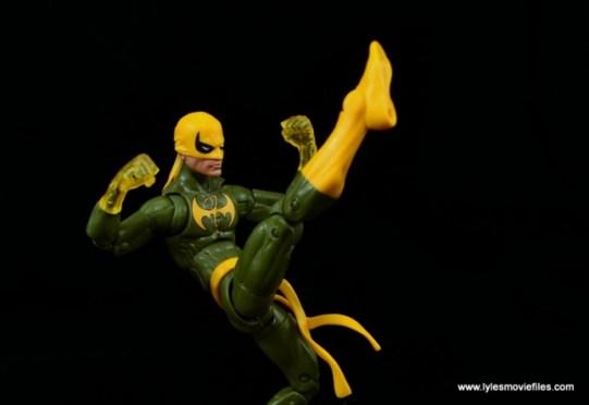 Marvel Legends Iron Fist figure review - front kick