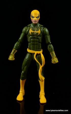 Marvel Legends Iron Fist figure review - front