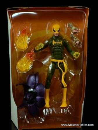Marvel Legends Iron Fist figure review - in tray