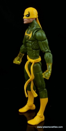 Marvel Legends Iron Fist figure review - left side