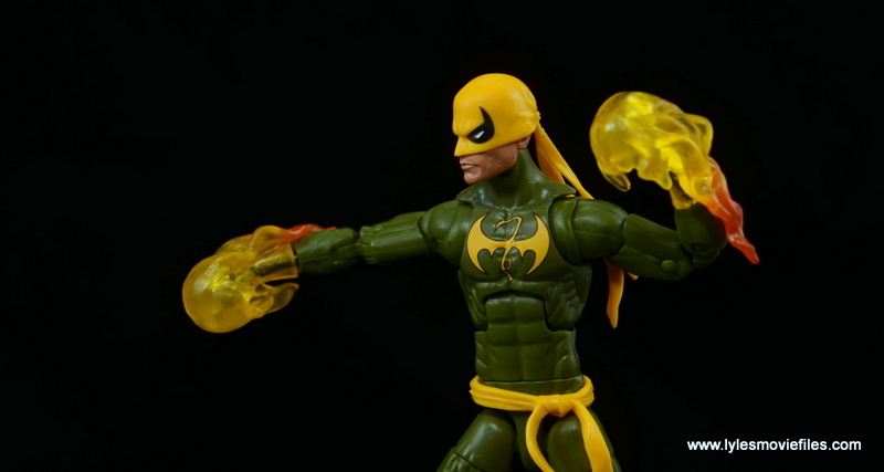 Marvel Legends Iron Fist figure review - punching with chi