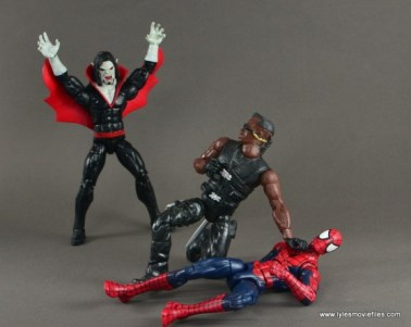 Marvel Legends Morbius figure review - about to attack Blade