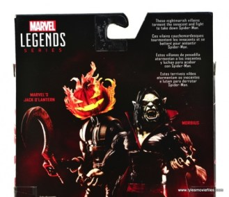 Marvel Legends Morbius figure review - package bio