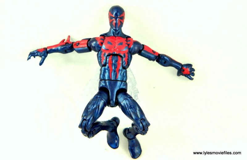 Marvel Legends Spider-Man 2099 figure review - against the wall