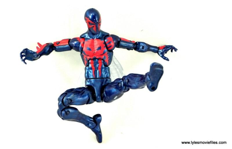 Marvel Legends Spider-Man 2099 figure review -kicking