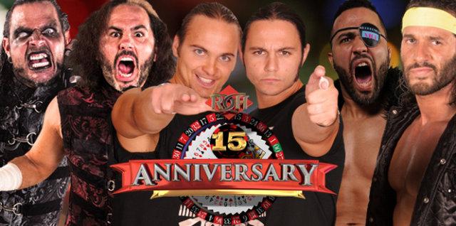 ROH 15th Anniversary - Broken Hardys vs Young Bucks vs RPG Vice