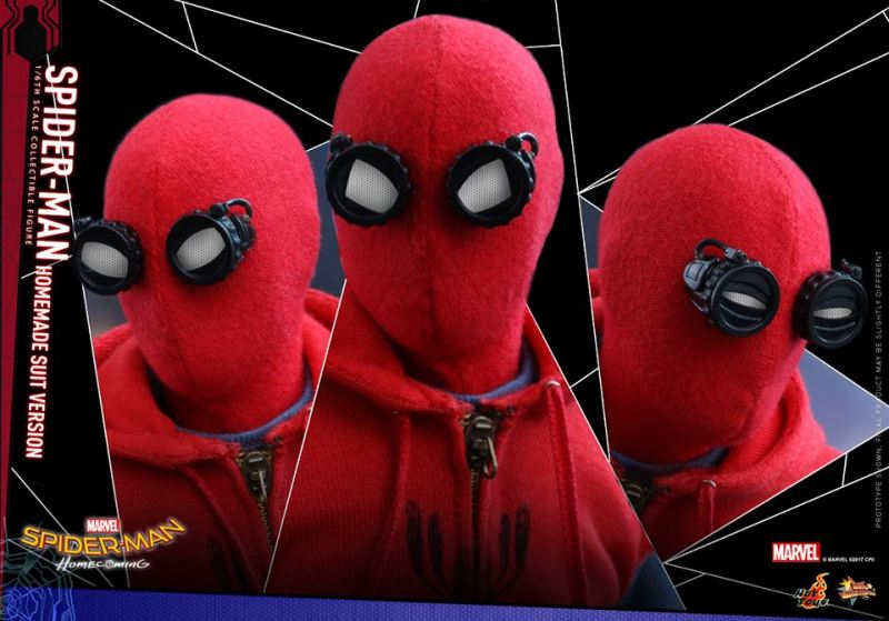 Spider-Man Homecoming Homemade Suit - three eye sockets