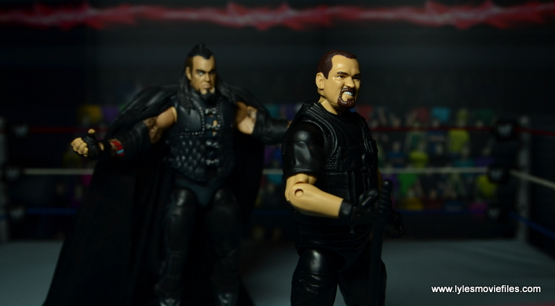 WWE Elite Big Boss Man figure review - being stalked by The Undertaker