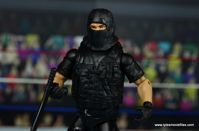 WWE Elite Big Boss Man figure review - with hood on
