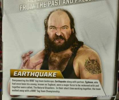 WWE Elite Natural Disasters figure reviews -Earthquake bio